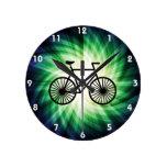 Bicicleta fresca relojes de pared