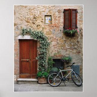 Bicicleta, impresión de la fotografía de Pienza o  Impresiones
