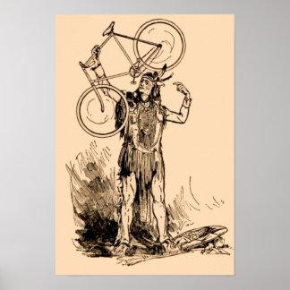Bicicleta Iroquois india del nativo americano Posters