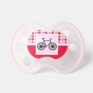 Bicicleta linda chupetes de bebe