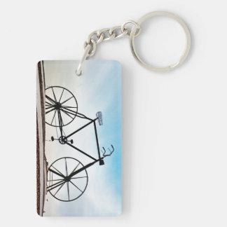 Bicicleta Llavero Rectangular Acrílico A Doble Cara
