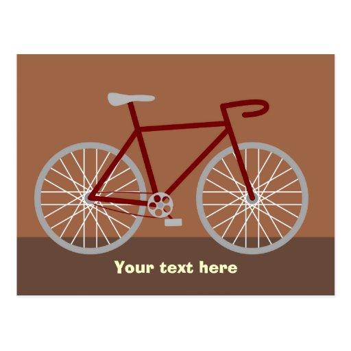 Bicicleta - marrón postal