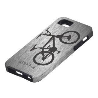 Bicicleta metálica gris del negro de la mirada iPhone 5 funda