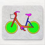 """Bicicleta"" Mousepad del arco iris Tapetes De Ratones"