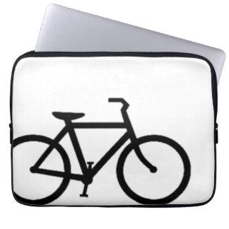Bicicleta: Negro en blanco Manga Portátil