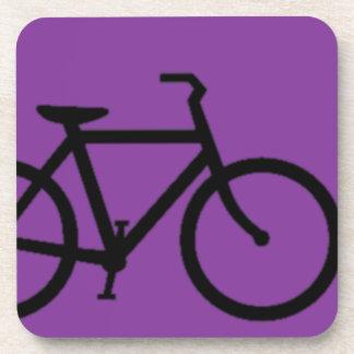 Bicicleta: Negro en púrpura Apoyavasos