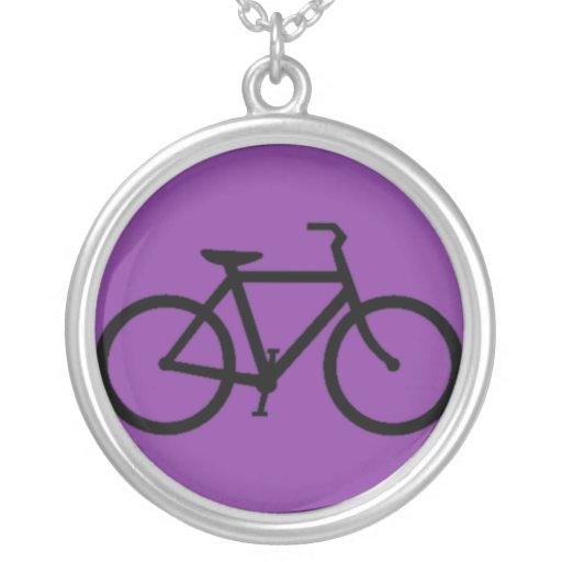 Bicicleta: Negro en púrpura Colgante Personalizado