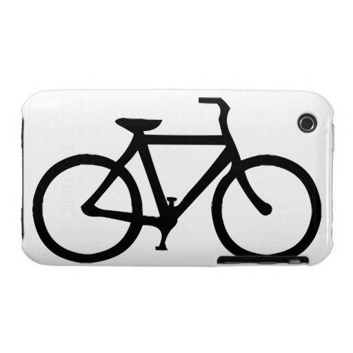 Bicicleta: Negro Funda Para iPhone 3 De Case-Mate