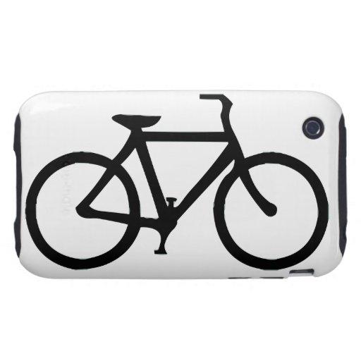 Bicicleta: Negro Tough iPhone 3 Protector