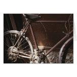 Bicicleta oxidada felicitación