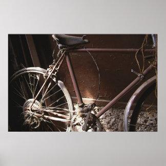 Bicicleta oxidada póster