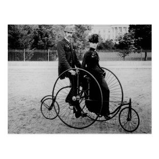 Bicicleta para dos en la Casa Blanca 1886 Tarjetas Postales