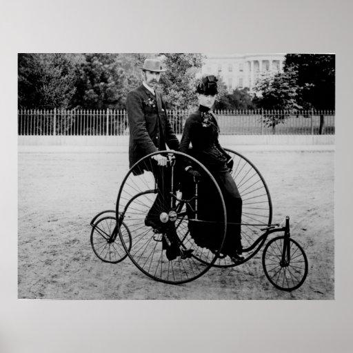 Bicicleta para dos en la Casa Blanca Póster