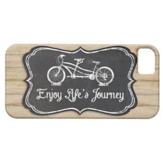 Bicicleta para dos, pizarra del viaje de Lifes rús iPhone 5 Cárcasa