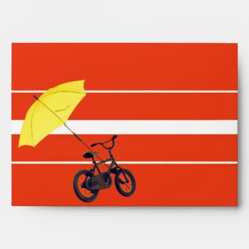 bicicleta + paraguas