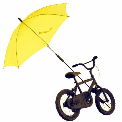 bicicleta + paraguas fotoescultura vertical