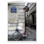 Bicicleta parisiense felicitaciones