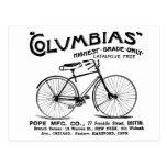 Bicicleta pasada de moda antigua postales