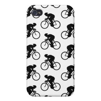 Bicicleta Pern en blanco y negro iPhone 4/4S Carcasa