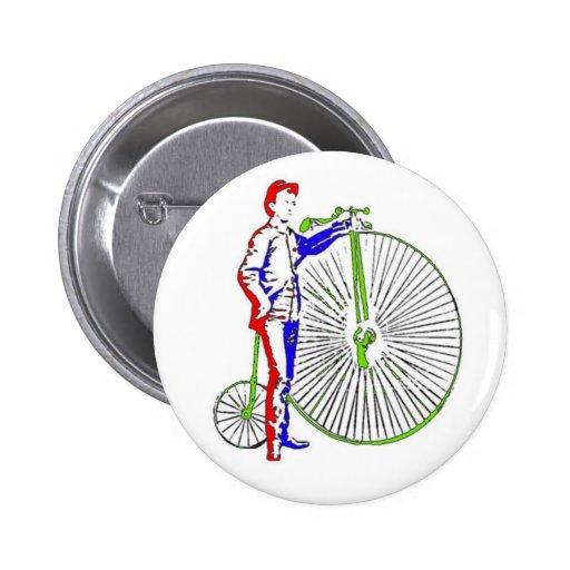 Bicicleta Pin Redondo De 2 Pulgadas