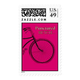Bicicleta pinchada sellos
