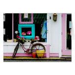 Bicicleta por el anticuario felicitación