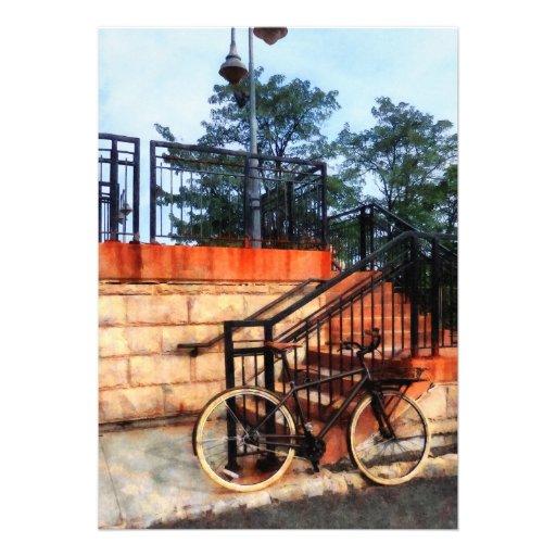 Bicicleta por la estación de tren invitacion personal