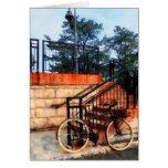 Bicicleta por la estación de tren tarjeton