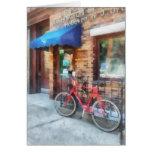 Bicicleta por la oficina de correos felicitación