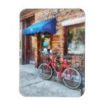 Bicicleta por la oficina de correos imanes de vinilo
