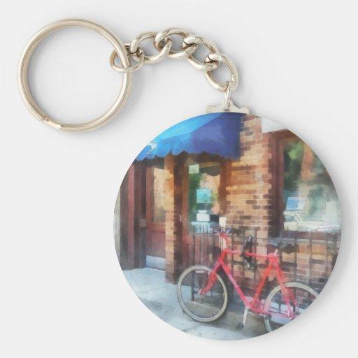 Bicicleta por la oficina de correos llavero