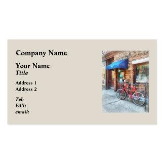 Bicicleta por la oficina de correos plantillas de tarjetas personales