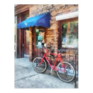 Bicicleta por la oficina de correos tarjetas postales