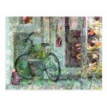 Bicicleta - postal casera agradable del arte