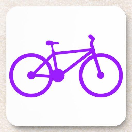 Bicicleta púrpura violeta posavasos