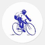 Bicicleta Radler bicycle bike rider Pegatina Redonda
