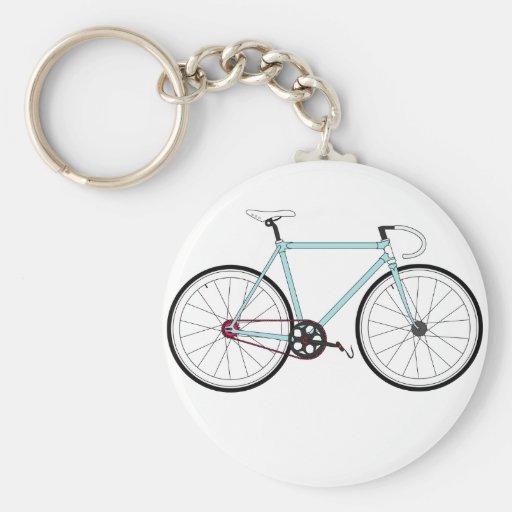 Bicicleta retra clásica llavero redondo tipo pin
