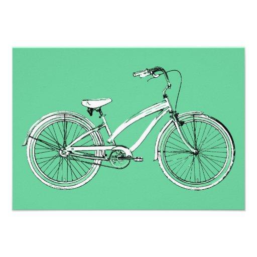 bicicleta retra invitación