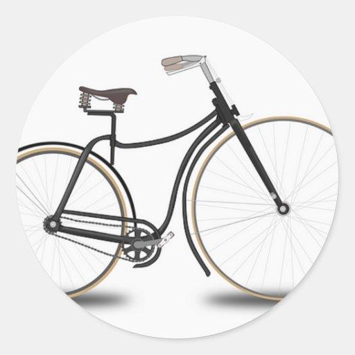 Bicicleta retra pegatinas redondas