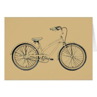 bicicleta retra tarjetas