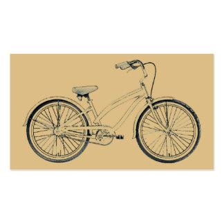 bicicleta retra plantillas de tarjetas personales