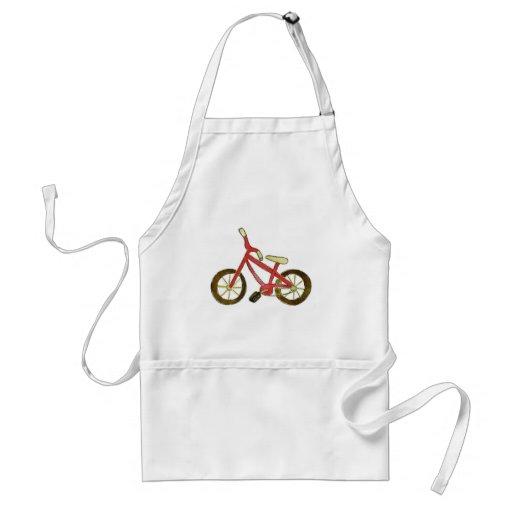 Bicicleta roja delantal