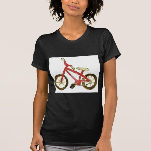 Bicicleta roja poleras