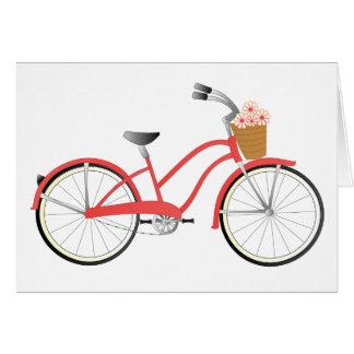 Bicicleta roja tarjetas