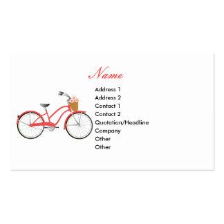 Bicicleta roja tarjetas de visita