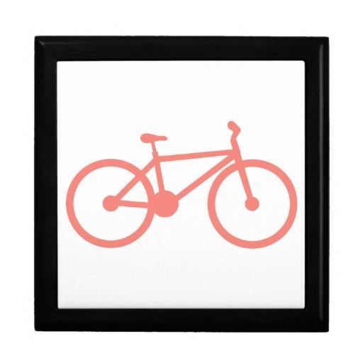 Bicicleta rosada coralina caja de joyas
