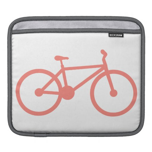 Bicicleta rosada coralina funda para iPads