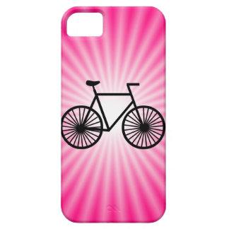 Bicicleta rosada iPhone 5 funda