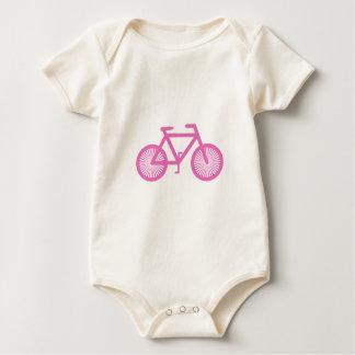 Bicicleta rosada mameluco