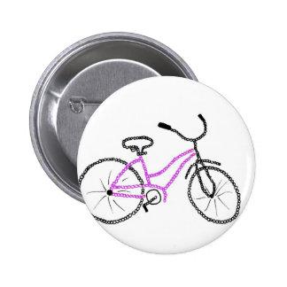 Bicicleta rosada pin